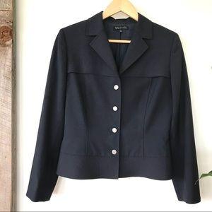 Tahari navy jacket